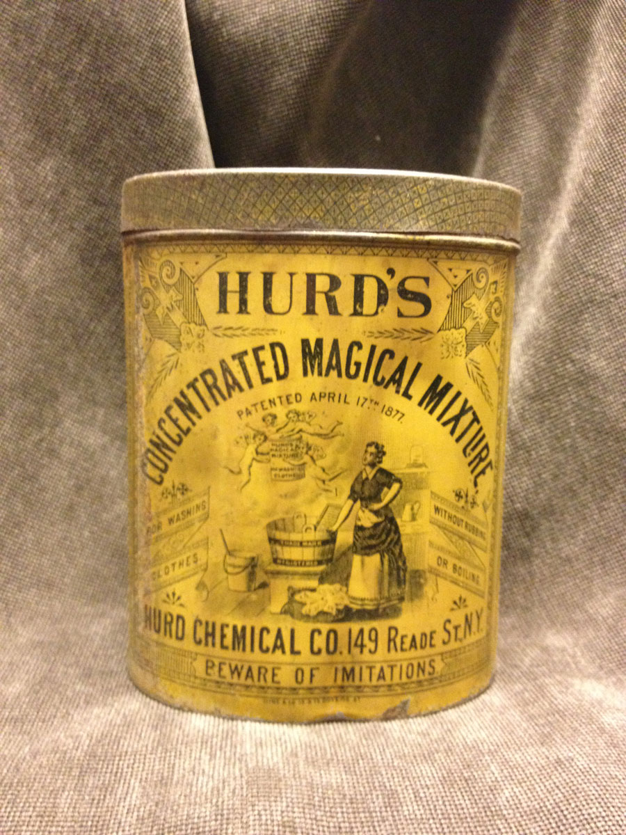 Hurd's Magical Mixture Tin Ca. 1870