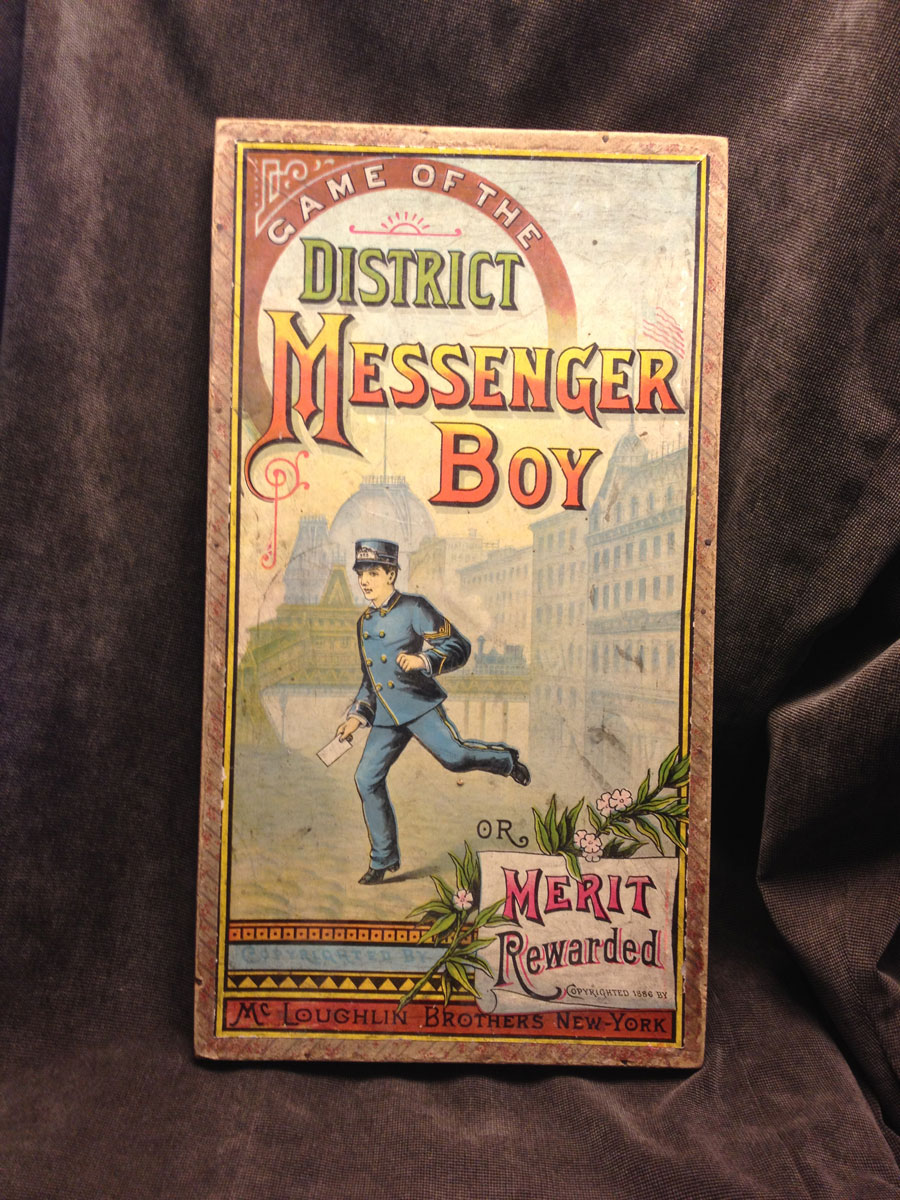 District Messenger Boy Board Game: The 1886 Rags to Riches Games