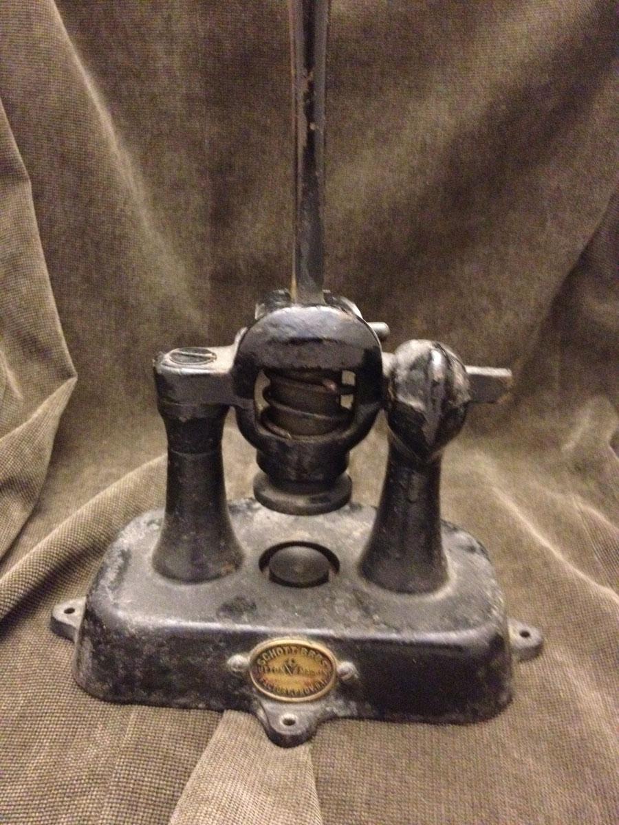 Antique Button Machine Schott Bros.