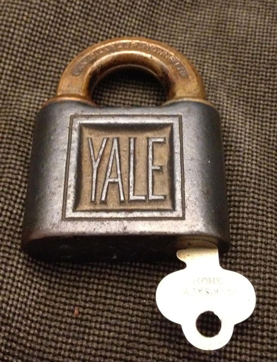Vintage Antique Yale Lock & Key
