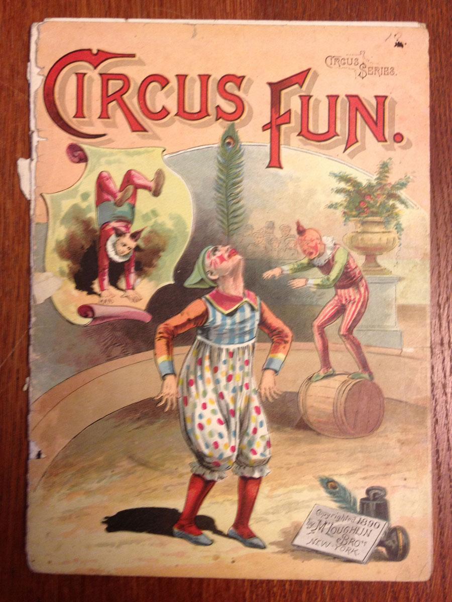 Circus fun book Circa 1890