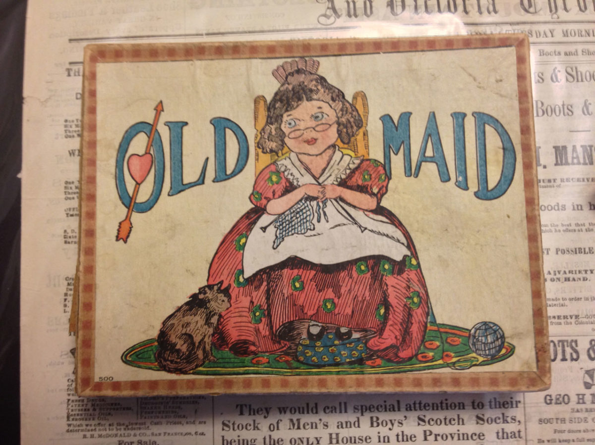 Old Maid Cards Ca 1910