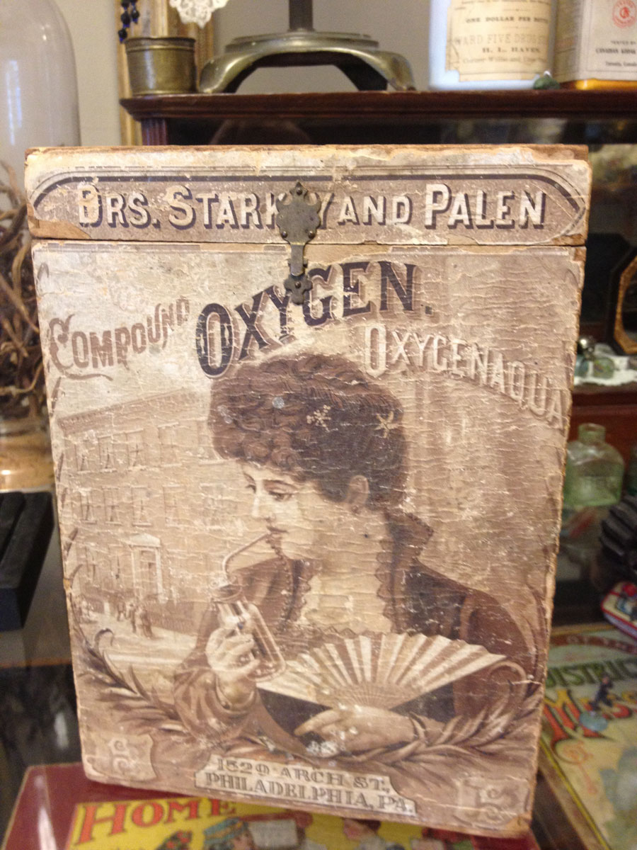 Rare Compound Oxygen Box (Circa 1880)