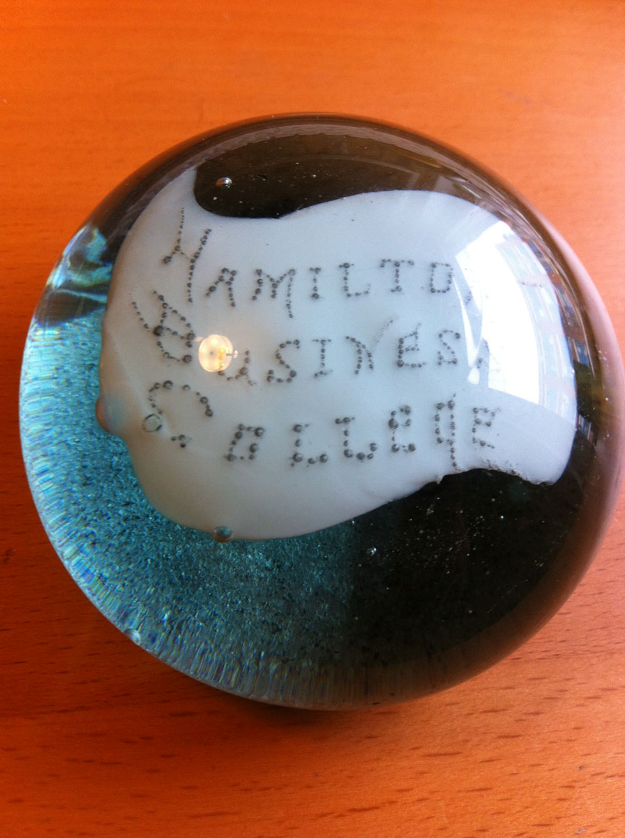 Canadian Glass Paper Weight ca 1895