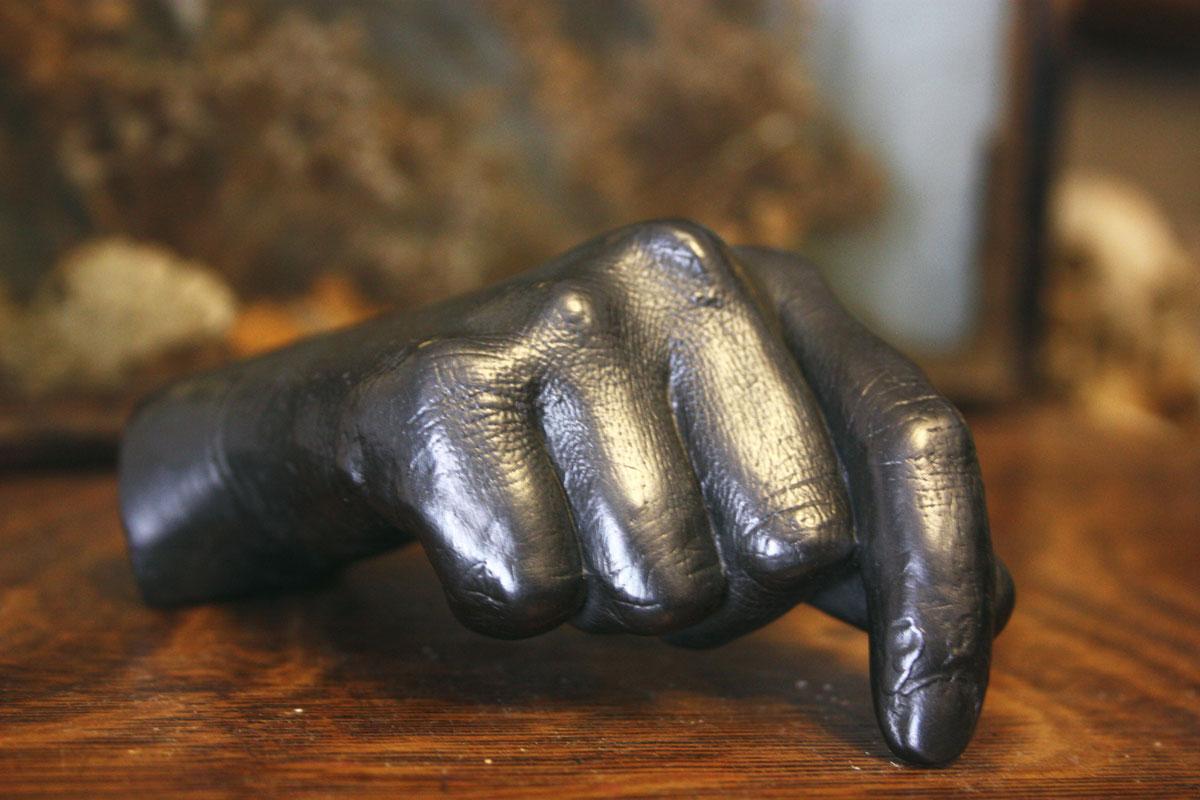 Agelio Batle Graphite Hand Sculpture