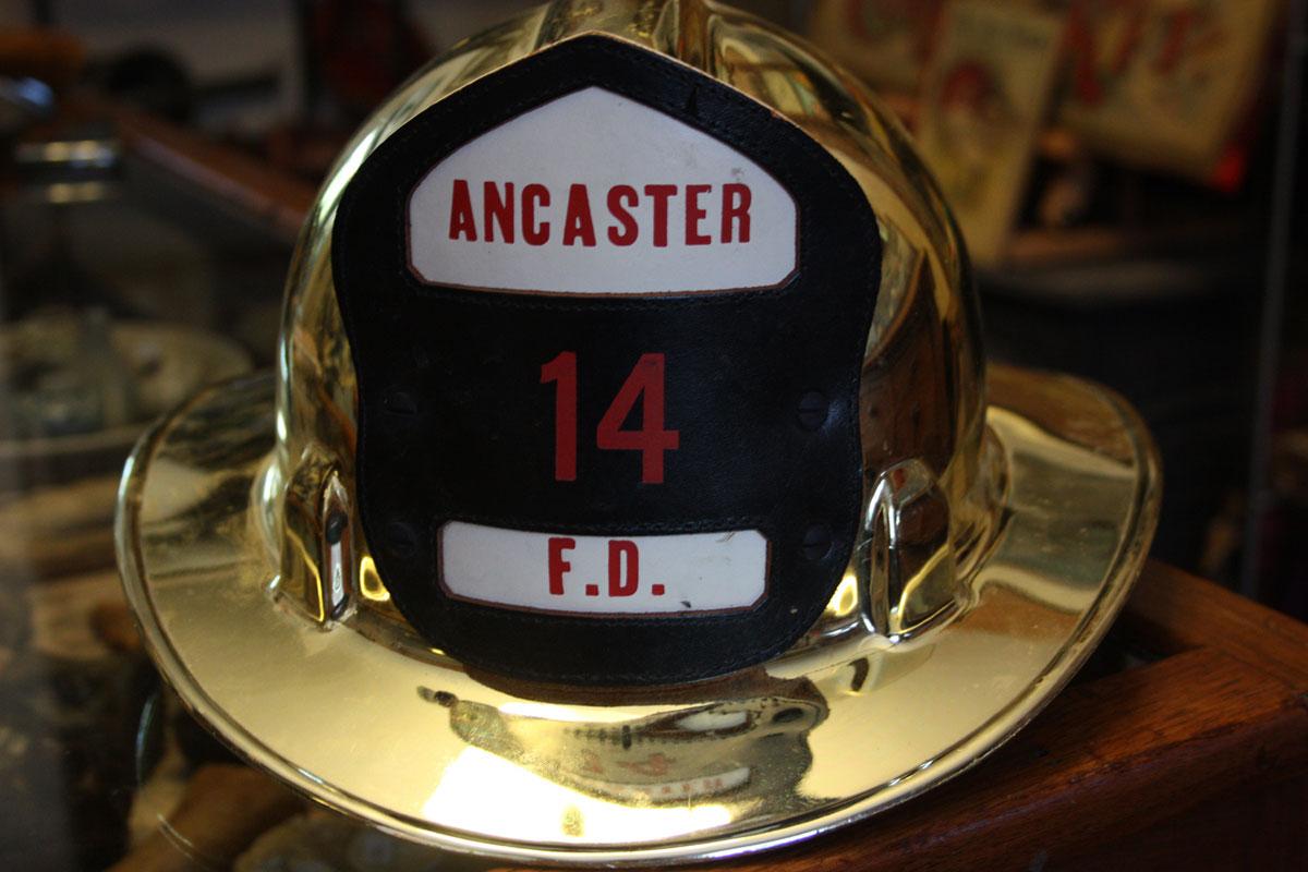 Vintage Ancaster Fireman Helmets