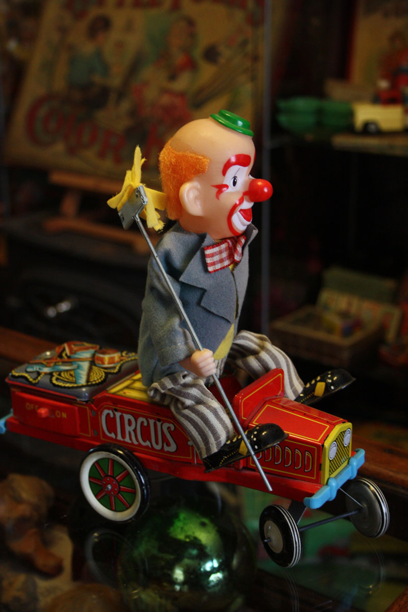 Charlie Clown with Truck and Mop