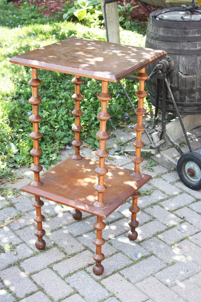 Retro Vintage Two Tier Table