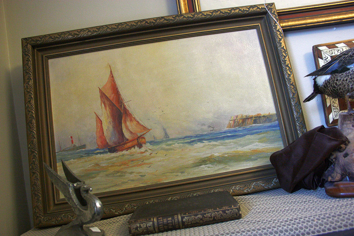 Lovely Sailboat Oil Painting by William Stanley