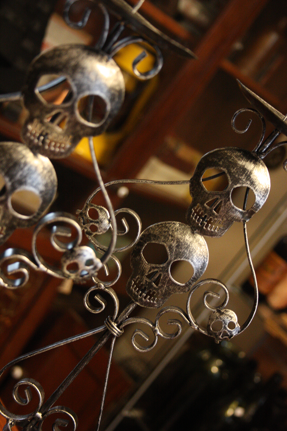 Skull Candle Holders