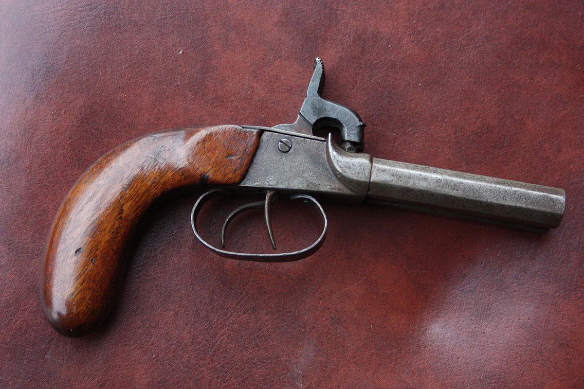 1840-50's Double Barrel Flintlock HandGun