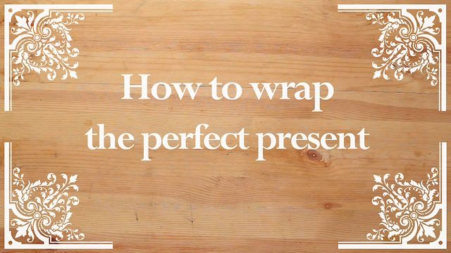 How To Wrap A Present!! :)