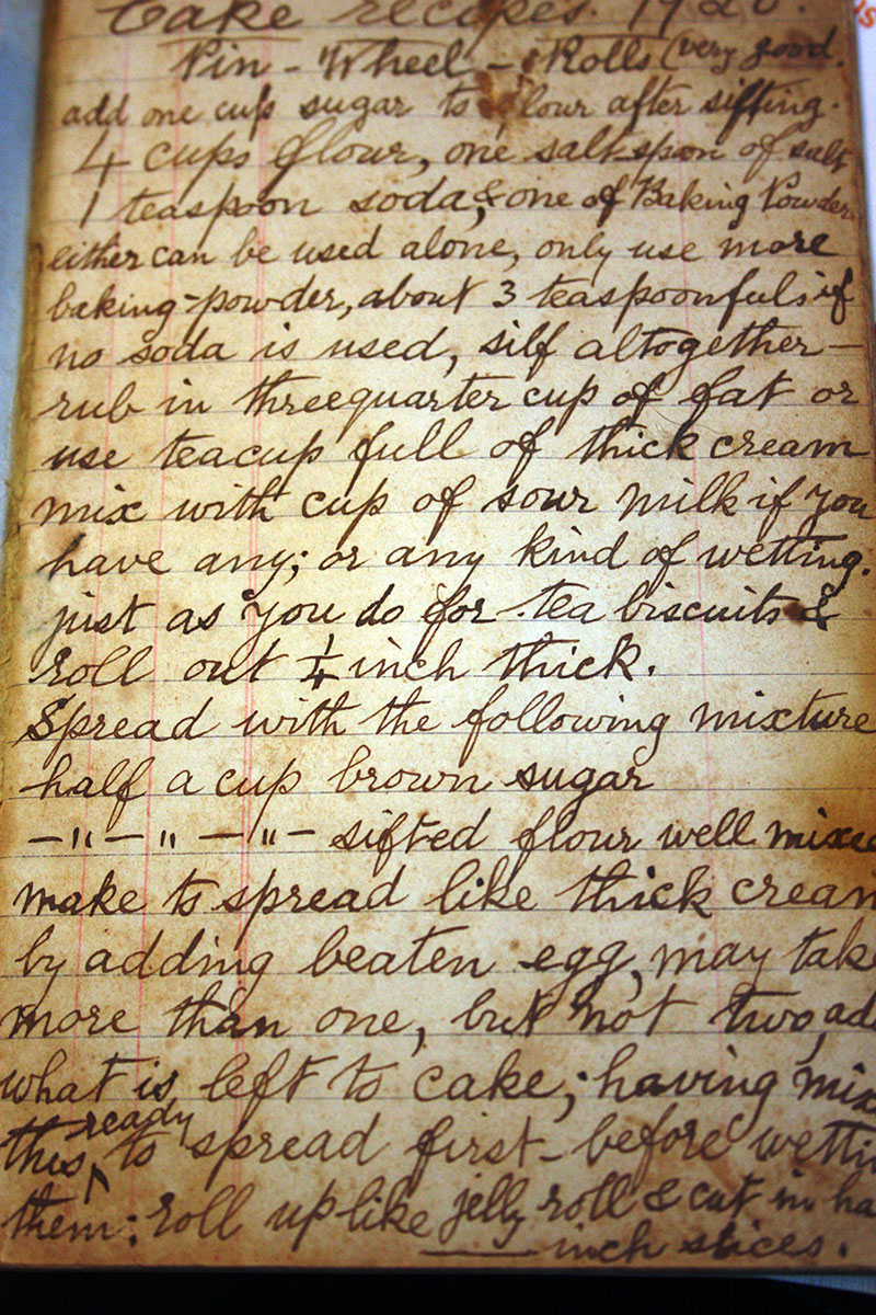 Pin Wheel Rolls Recipe from the 1920's! Very Good! it says.