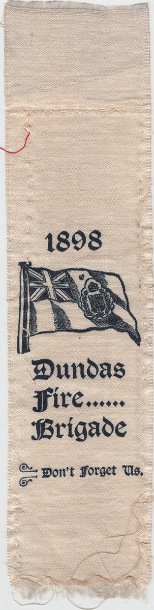 Dundas Fire Brigade Ribbon, 1898