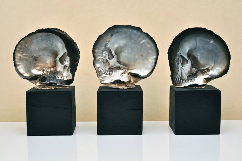 Incredible Carved Pearl Skulls By Gregory Halili