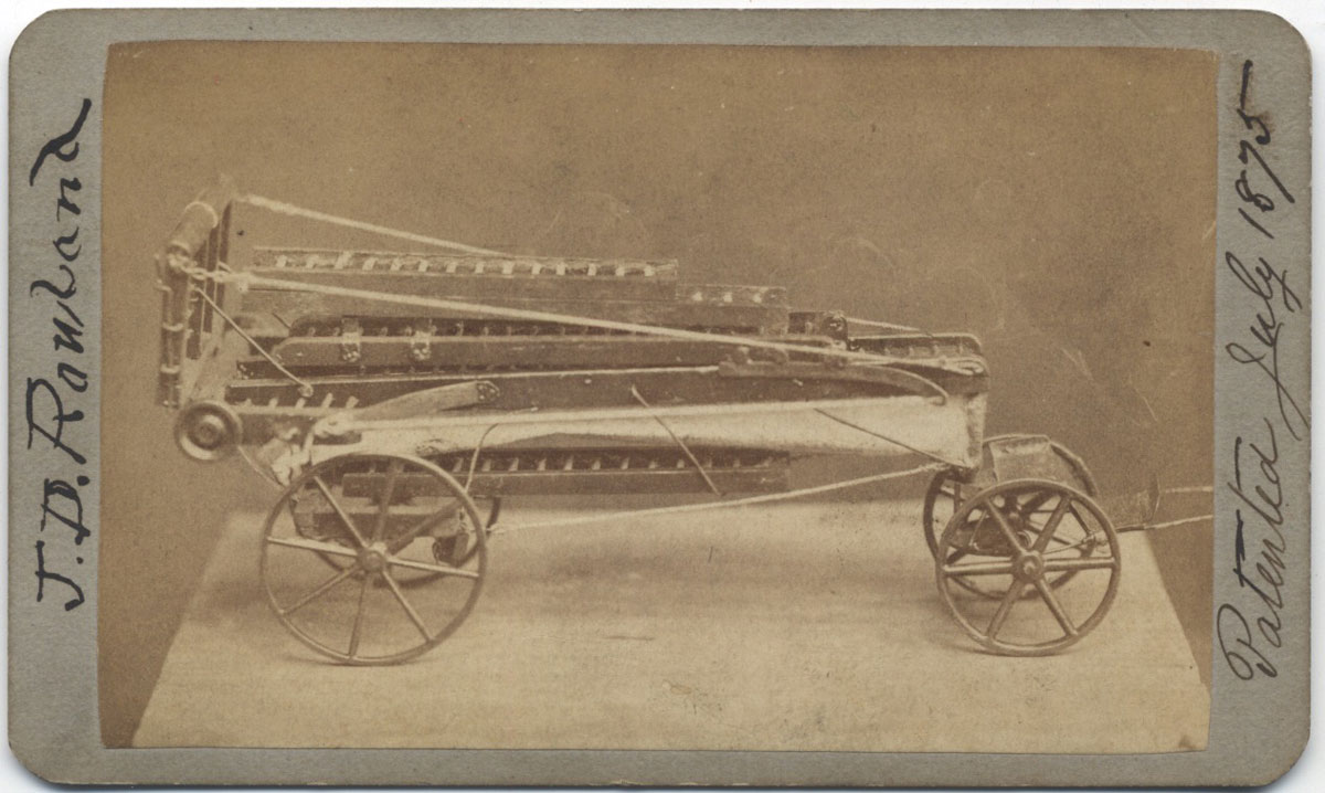 Model CDV Photograph Firefighting Wagon Mounted Extension Ladder